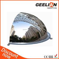Large custom clear acrylic half dome plastic half ball parabol mirror