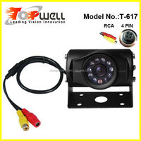 10 IR LED Night Vision IP68 Waterproof 4 PIN CCD Colour Rear View Camera for Van