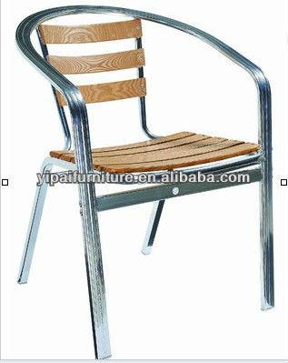 Teak wood flat pipe aluminum outdoor chairs yc050 buy - Chaise aluminium exterieur ...