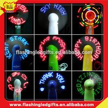 Branded Slogan PromotionalFlashing Mini LED Fan, Light Up LED Fan, LED Message Fan Produce in China