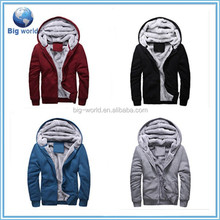 2015 Fashion man Winter Sweater Warm Jackets Thick Velvet Hooded Zip sweater Coat Hoodies