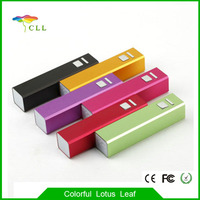 2000mah aluminium alloy mobile power bank universal portable battery charger for iphone