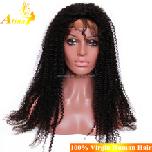 """High Quality 30"""" Inch Malaysian Undetectable Wig 100% Virgin Human Hair Kinky Curly Glueless Full Lace Wig"""