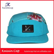 best selling blue cotton 5 panel camper hats wholesale promotional design your own
