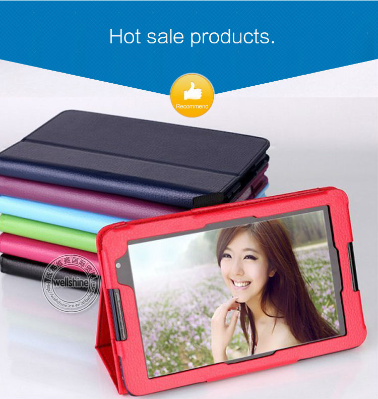 """Red Color for Lenovo Idea Tab 8"""" Tablet A8-50 A5500 PU Leather Flip Stand Case Cover"""