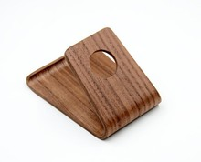 Painted Brown Walnut New Wooden Cell Phone Holder, cell phone stand for All Kinds of Brand Cell Phone