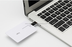 Credit card USB flash drive/ 4GB memory/ultrathin/designed for easy carrying in wallet/financial and medical promotion