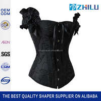 China factory price high grade sexy leather waist cincher corset