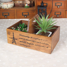 Hot Sell Wooden crate ,garden display wooden box ,wood tray wholesale