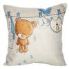 2015 China factory supplies wholesale alibaba selling well 45*45 100% cotton bear home made decorative sofa cushion