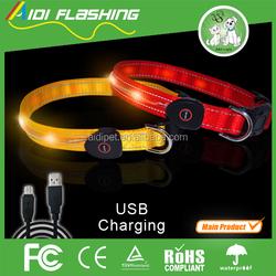 CE RoHS dog safety led collar, decorative dog collars