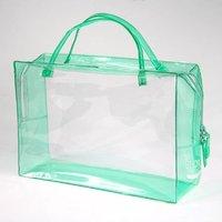 Female Tote Clear Plastic PVC Travel Toiletry Kit Bag