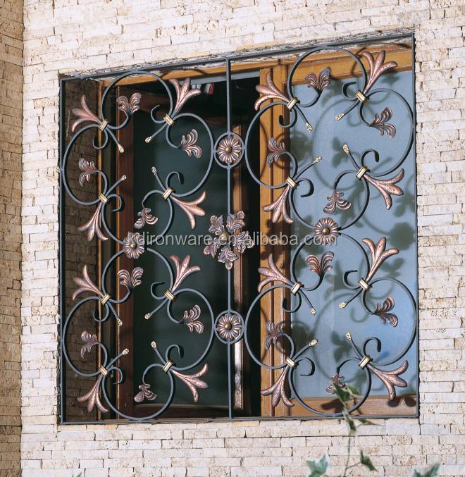 Maison fen tre de protection d coratif en fer forg - Fer forge fenetre moderne ...
