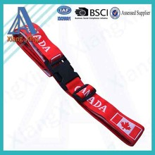 Fashion personalized luggage straps with customized logo