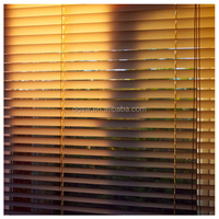 PVC faux wood Foam Blinds Horizontal Beautiful Blind Environmentally Friendly Blind