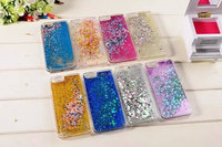 new arrival 3d diamond pattern moving liquid glitter phone case for iphone 5 5s 6g 6 lus