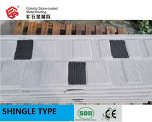 color stone chip coated metal roof tile/stone coated metal roofing