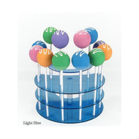 One dozen Semi-circle Acrylic Cake pop stand colorful Lucite Cake pop two tiers display holder