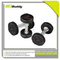 Weight training equipment and china pu dumbbell with chrome handle
