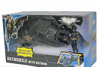 The BATMAN Dark Knight BATMOBILE Tumbler BLACK CAR Vihecle Toys With a Figure
