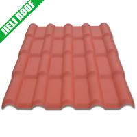 Terracotta red synthetic resin spanish roof tile