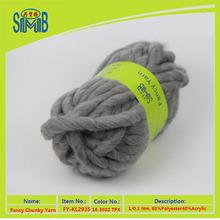 Oeko-Yex fancy knitting yarn 60% polyester 40% acrylic yarn for knitting blankets super chunky yarn