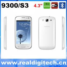 New i9300 smart phone unlocked I9300 cell phone Dual sim card Android 4.1 S3 mobile phone