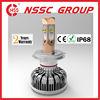 autoparts car 3000lumen 60watt single beam led headlamp bulb kit with luxury red copper body