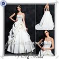 fq0464 sweetheart corpete frisado com babados vestido de baile vestidos de noiva fotos