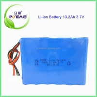 China Battery Manufacturer 18650 3.7V Lithium ion Battery 13.2Ah