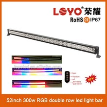 NEW arrival four changing color 52inch super power led emergency light bar with remote controller