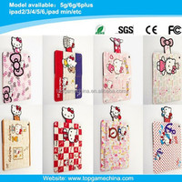 book style leather case for ipad air 2 hello kitty printing case
