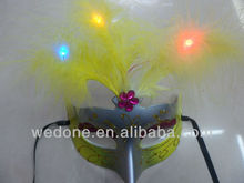 Glow Feather Party Face Masks