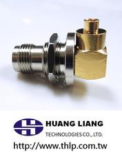 RF female/jack taiwan made bulkhead right angle tnc male 90 degree crimp connector