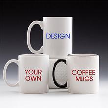 Insert photo mugs white coated ceramic porcelain mug custom print for your own design or logo