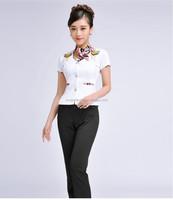 women's pink suirt and skirt uniform, uniform for office ladies