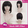 Magic Wig World Classical Short black Bob Synthetic Wig Hairstyle