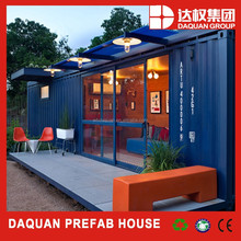 Scandinavian style well-insulated wooden prefab house, prefab container house made in DAQUAN