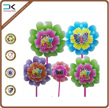 Picture printed plastic cartoon pinwheel toy for promotion