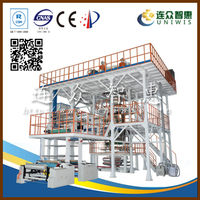 six layer 140kg/h output down water-cooling air bubble film extruder machine