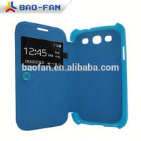 2D sublimation leather flip phone case ,cover for Samsung galaxy S3