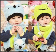 2012 kids warm knitted hats and scarf suit