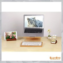 Samdi laptop notebook radiator cooling base Wooden laptop cooling stand
