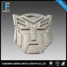 2016 Custom Transformer Chrome Car Badge Emblem,3D logo sticker
