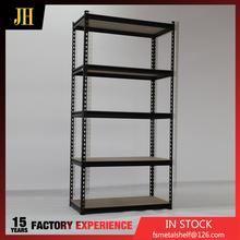 Fabricação de alta qualidade 5 níveis de armazenamento prateleira com prateleiras de madeira