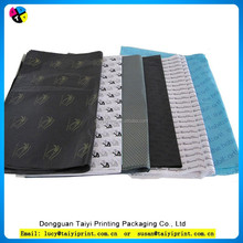 2015 cheap paper wrapping color printed brands names tissue paper