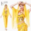 أداء الرقص الشرقي زي للنساء بوليوود أزياء الرقص زي الرقص، الساري الهندي الجملة