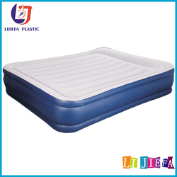 Inflatable manufacturers cheap single, double inflatable mattress flocking