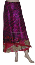 Buy Online Vintage Silk Sari Wrap round Skirt Long Length