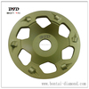 PCD grinding cup wheel for epoxy glue paint concrete floor